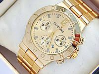 Золотые часы Pandora с дополнительными циферблатами и датой, фото 1