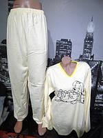 Женская пижама на флисе полубатал Ж-384