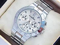Серебристые часы Pandora с дополнительными циферблатами и датой, фото 1