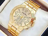 Жіночі годинники Pandora золотого кольору з трьома хронографами, фото 1