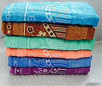 Банные полотенца Велюр-Цветок