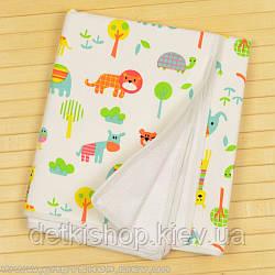 Непромокаемая двусторонняя пеленка 60x80 тм «Omali» (трикотаж птички)