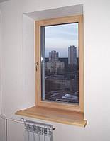 Окно деревянное поворотно-откидное, евробрус сосна(размером - 0,8*1.4м) с 2кам стеклопакетом