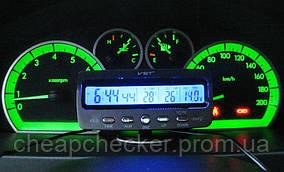 Автомобильные Электронные Часы VST 7045V Авточасы Термометр Вольтметр