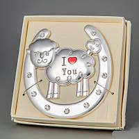 """Оригинальный подарок 2015 г. - символ удачи  """"Овечка I Love You"""" 10*10 см"""