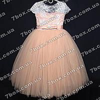 Детское нарядное платье бальное Грация (персиковое) Возраст 6 лет., фото 1