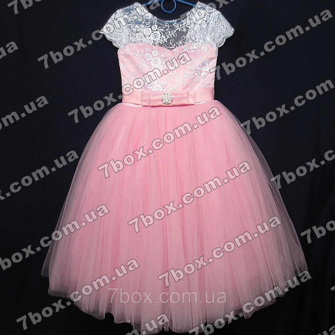 Детское нарядное платье бальное Грация (розовое) Возраст 6 лет.