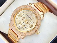 Женские часы Pandora золотого цвета с дополнительными циферблатами и датой, фото 1