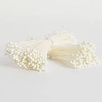 Белые мелкие тычинки с круглыми головками, размер XS, Япония, код XSB-1
