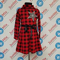 Детское платье  для девочек в клетку на байке оптом MODA. ИТАЛИЯ