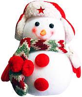 """Игрушка-украшение """" Снеговик с шарфом """", 17см"""