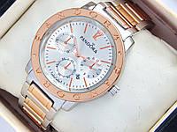 Женские часы Pandora комбинированные - розовое золото серебро с дополнительными циферблатами и датой, фото 1