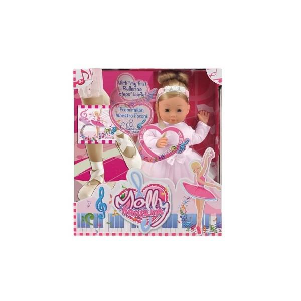 Говорящая кукла BAMBOLINA MOLLY БАЛЕРИНА 40 см с аксессуарами
