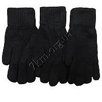 Перчатки мужские двойные с начесом черные Корона Оптом 8114