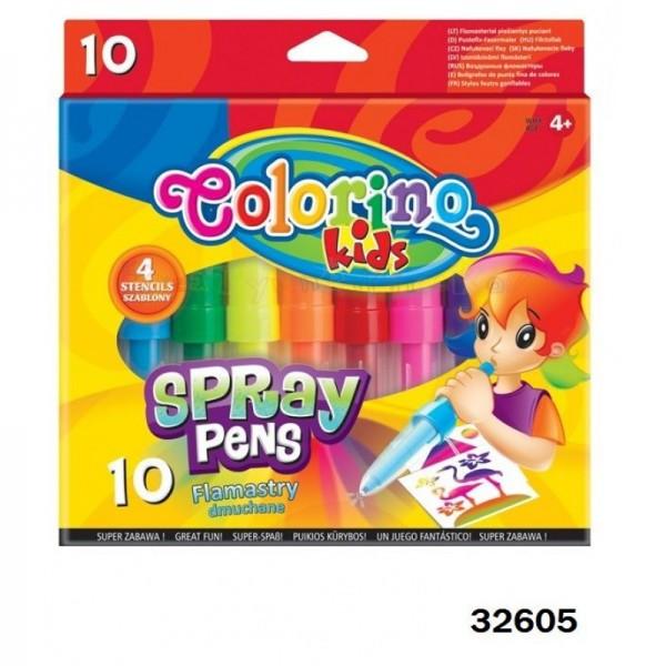 Фломастеры воздушные 10 цветов, Colorino