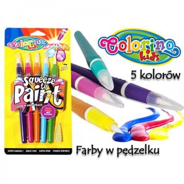 Ручка с кисточкой 5 tropical цветов Colorino