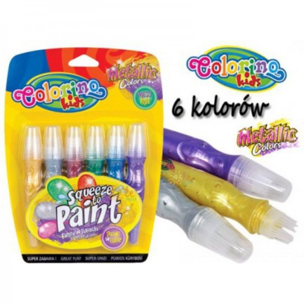 Ручка JUMBO с кисточкой 6 цветов, Colorino