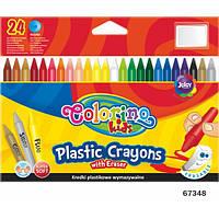 Карандаши стираемые пластиковые 24 цвета Colorino