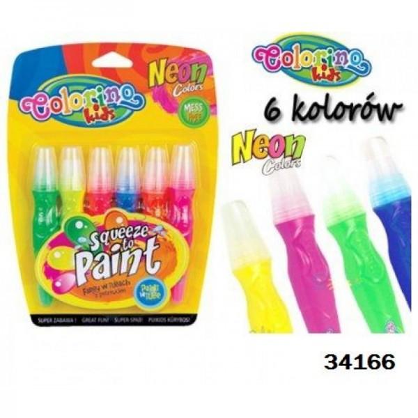 Ручка neon с кисточкой 6 цветов