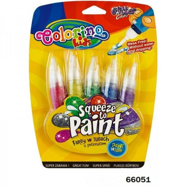 Ручка JUMBO с кисточкой и блестками 5 цветов