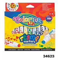 Маркеры со штампом 10 цветов Colorino