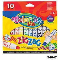 Маркеры Zig Zag со сдвоенным наконечником 10 цветов Colorino