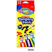 Краски Темпера в тубе 12 цветов Colorino