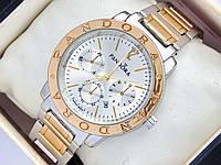 Женские часы Pandora комбинированные - золото серебро с дополнительными циферблатами и датой