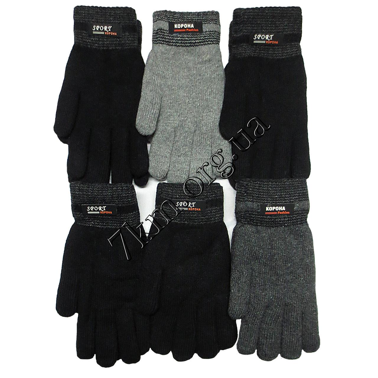 Перчатки мужские двойные махровые Корона Оптом 8102