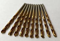 Сверло по металлу с титановым напылением диаметр 2,5 мм.