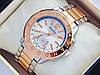 Женские часы Pandora комбинированные - розовое золото серебро с дополнительным циферблатом, синяя полоса