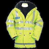 Водонепроницаемая светоотражающая куртка Police c подстежкой. Великобритания, оригинал.