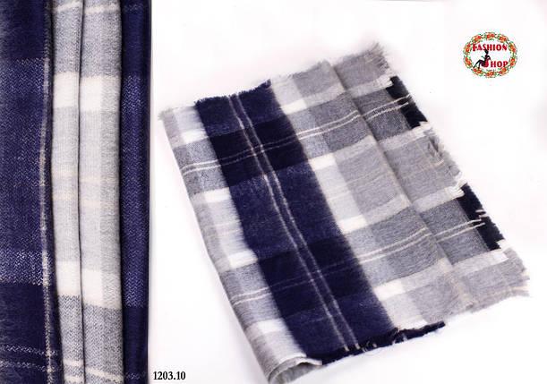 Мужской стильный шерстяной шарф-плед, фото 2