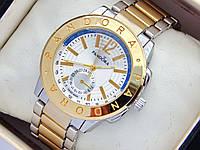 Женские часы Pandora комбинированные - золото серебро с дополнительным циферблатом, синяя полоса, фото 1