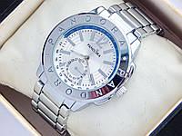 Женские часы Pandora серебряного цвета с дополнительным циферблатом, синяя полоса, фото 1