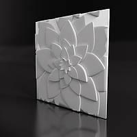 """Гипсовые 3D панели для стен  """"Лотос"""", 500х500"""