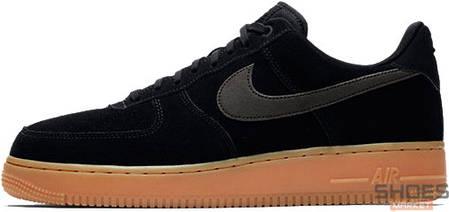 Мужские кроссовки Nike Air Force 1 '07 LV8 Suede Black/Gum, Найк Аир Форс, фото 2
