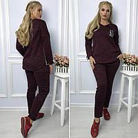Стильный и удобный женский спортивный костюм размер 48.50.52.54