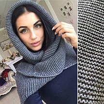 Теплый вязаный шарф-хомут: 6 цветов, фото 3