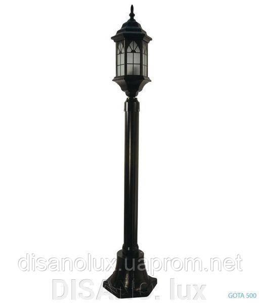 Светильник парковый уличный GOTA 500 черный 1,20м