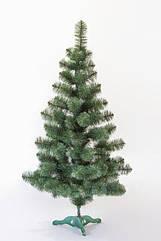 Елка искусственная новогодняя с белыми кончиками 1.3 м