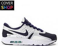 Кроссовки мужские Nike Air Max - Zero, бело ― синие, плотная сетка + текстиль, подошва - пенка