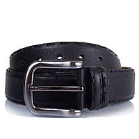 Ремень мужской кожаный ручная прошивка черный Glasman 450006