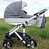 Коляска Adamex Galactic 604 K светло серый серый лен