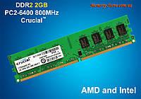 Оперативная память DDR2 Crucial 2GB PC2-6400 800MHZ Intel/AMD