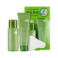 Набор для очищения пор NATURE REPUBLIC Bamboo Charcoal Nose & T-Zone Pack, оригинал