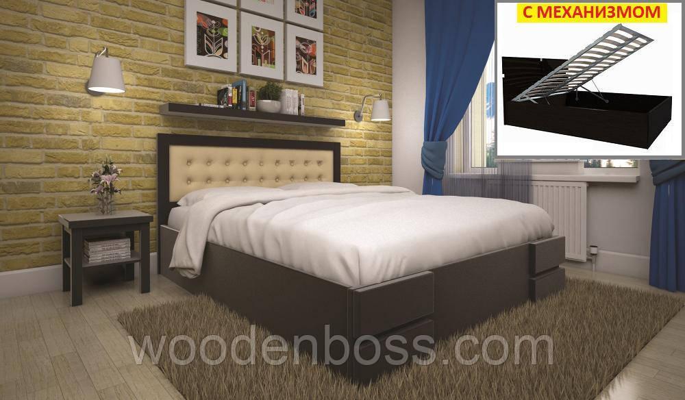 Кровать ТИС КАРМЕН (ПМ) 160*190/200 дуб
