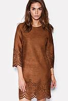 Платье «Пеле» коричневого цвета