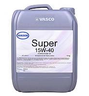 15W40 Super Vasco API SG/CD кан.10л/9кг