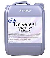 Минеральное моторное масло 15W40 Universal  Plus Vasco кан.10л/9кг